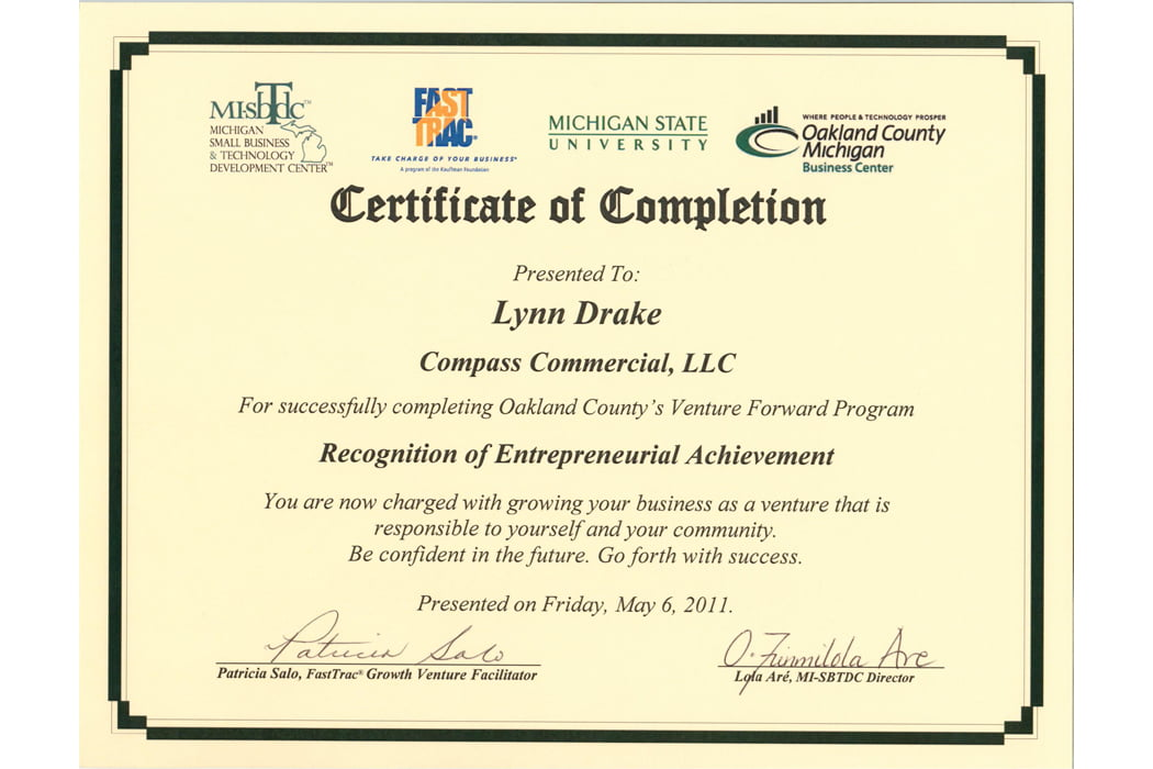 Certification Compass Commercial